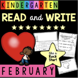 Reading and Writing in Kindergarten - Valentine's Day - Fluency -  Comprehension