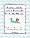 Reading and Writing lessons for Alexander and the Terrible