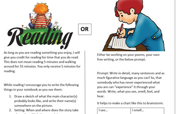 Reading and Writing outside assignment choice