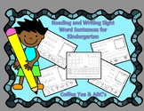 Reading and Writing the Sight Words for Benchmark Advance Kindergarten