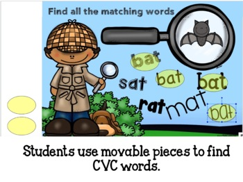 Reading and Writng CVC  at Family Words with Google Classroom