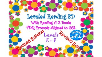 Written Response for Reading A-Z Books for levels E-F! CCS and TRC Aligned