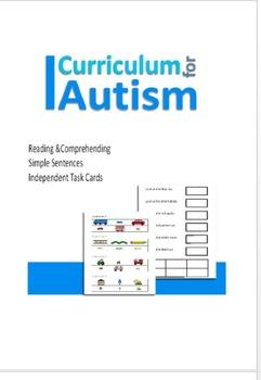 Reading & Comprehending Sentences Task Cards for Autism, S