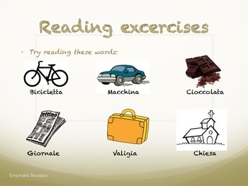 Reading and memorization exercises