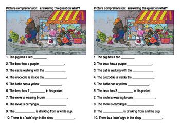 Reading and writing activity sheets