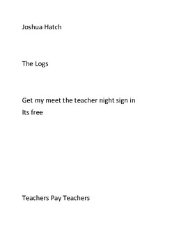 Reading and writing log By Mr.Hatch