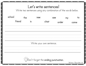 Reading and writing practice