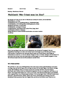 Reading assignment:  Allwetterzoo Muenster