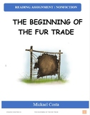 Reading assignment: Beginning of the fur trade, literacy (#1403)