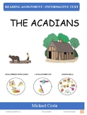Reading assignments: The Acadians, Social studies (#1031)