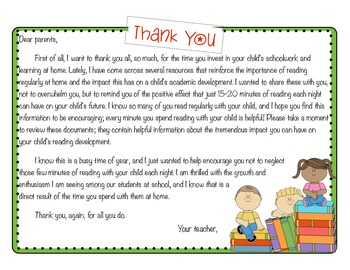 Reading at Home: A Letter of Encouragement to Parents