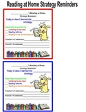 Parent Resource-  Reading at Home Reminder Cards