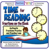 Time For Reading Fractions on the Clock