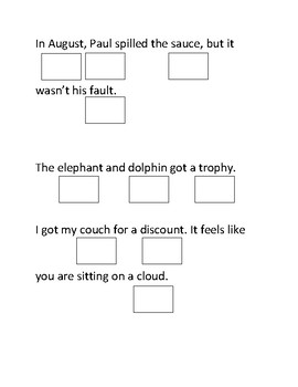 Reading basic sentences