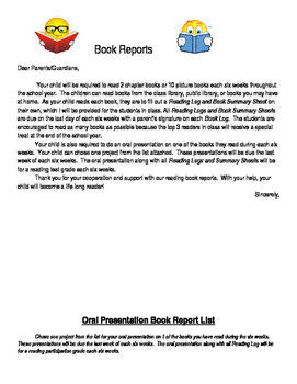 Reading book report project