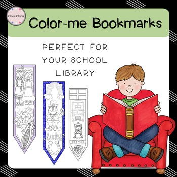 Reading books: 180 Color-me bookmarks