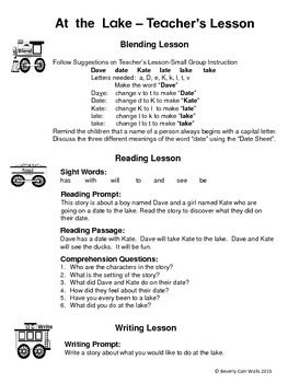 Reading by Reading: Long A Stories and Activities