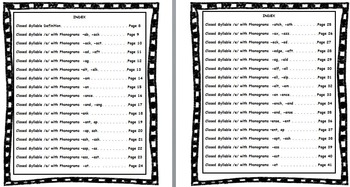 Reading Closed [Vowel] Syllables - Unit 1