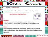 Reading center that kids create: syllables k2B