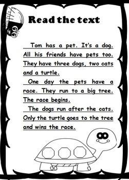 "Reading comprehension "" Animals"""