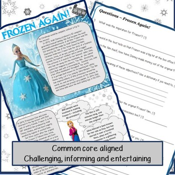 Reading Comprehension - Christmas at the Movies!