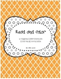 Reading comprehension activity book - Read and color