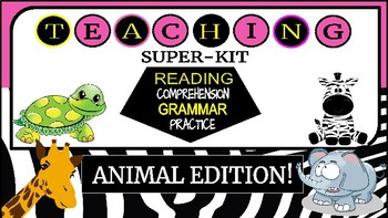 Reading comprehension and basic grammar! ANIMAL EDITION - LIMITED VERSION**