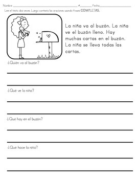 Reading comprehension and sight words practice