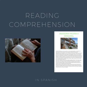 Reading comprehension in Spanish / Comprensión lectora.