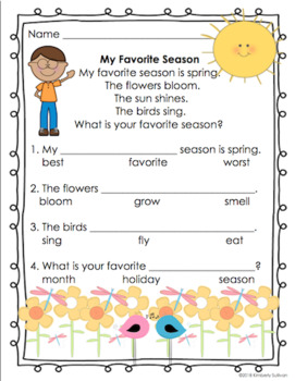 Reading comprehension passages and questions Pre-K - Grade ...