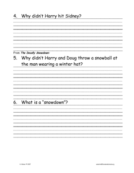 Reading comprehension question pack