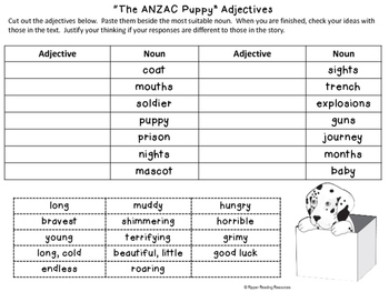 """The ANZAC Puppy"" resources"