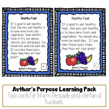 Reading Comprehension Task Card Bundle