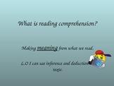 Reading comprehension tasks.