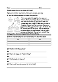 Reading comprehension worksheet- Jolly phonics /ur/ and /i