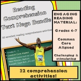 Reading Comprehension Texts - Mega Bundle