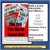 Reading Comprehension Package:  September 11th, JFK, Asian