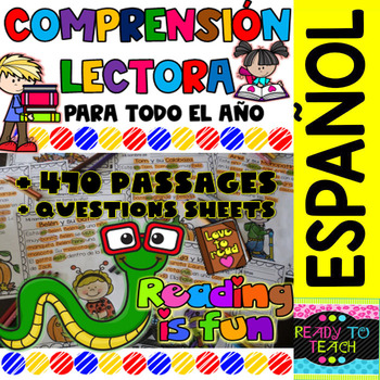 Reading comprehension in Spanish - Entire Year Bundle