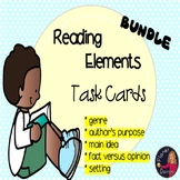 reading task card bundle setting, main idea, author's purp