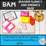 Reading fluency activities BAM game phonics practice sentences