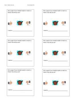 Reading fluency - Peer feed back for fluency