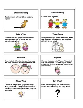 Reading fluency activities