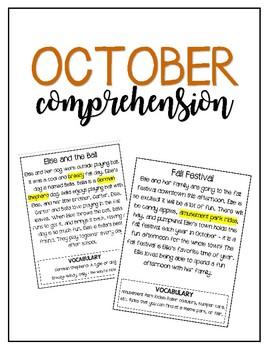 Reading for Comprehension // October