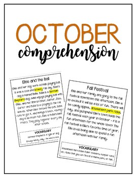 Reading for Comprehension // October