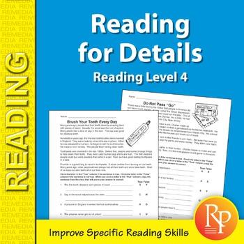 Reading for Details (Reading Level 4)