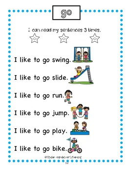 Reading for Fluency With Sight Words