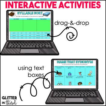 Reading Language Skills for Google Drive & Google Classroom BUNDLE