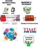 Nonfiction - Reading for Information - 8th Grade Bundle - Aligned w/ Common Core