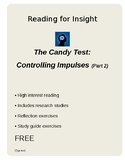 The Candy Test: Controlling Impulses (Part 2)