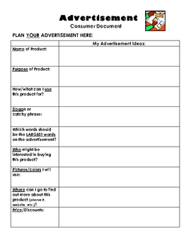Reading for Life - Analyzing & Creating an Advertisement - Worksheets